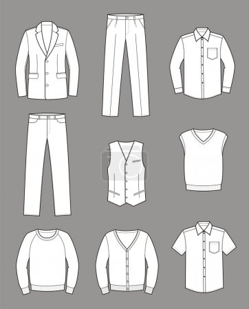 Vector illustration of men's business clothes