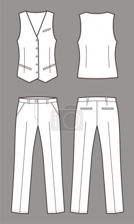 Vector illustration of women's business suit