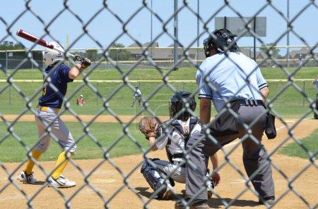 My Grandson playing Little League Baseball