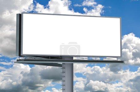 Billboard with empty screen