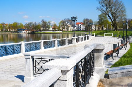 Embankment of Upper Pond. Kaliningrad