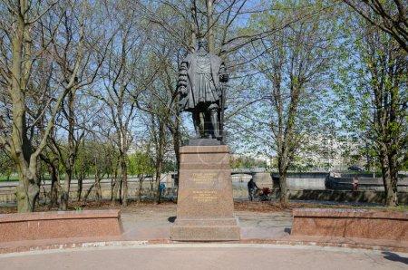 Foto de Kaliningrad, Rusia - 04 de mayo de 2013: el monumento al duque albrecht - el último Gran Maestre de la Orden Teutónica. fundó la Universidad de kenigsberg - Imagen libre de derechos