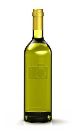 Foto de Botella de aceite de oliva sobre fondo blanco - Imagen libre de derechos