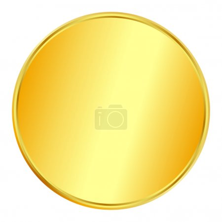 Illustration for Blank gold coin on white background - Royalty Free Image
