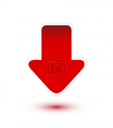 Red arrow down