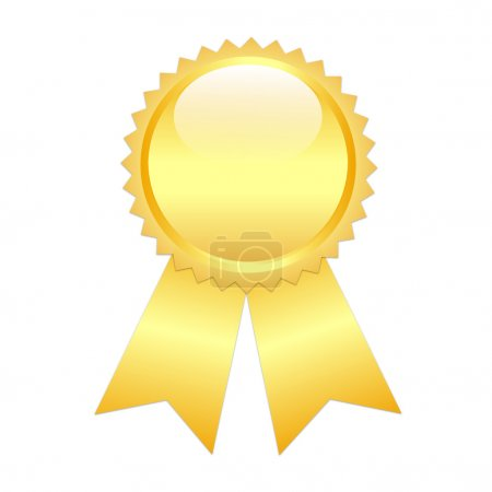 Gold prize ribbon