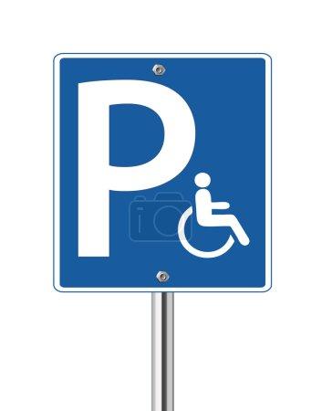 Handicap parking traffic sign