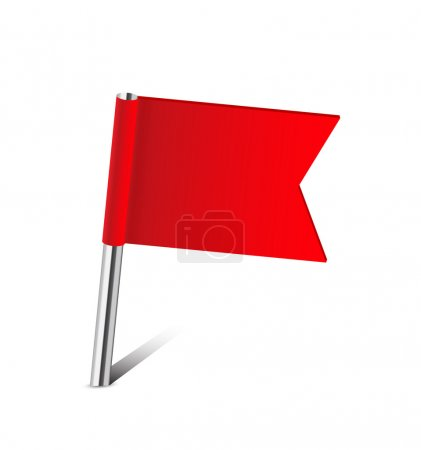 Red flag map pin