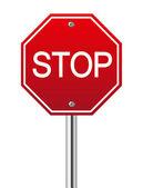 "Постер, картина, фотообои ""Знак Стоп красная трафика на белом"""