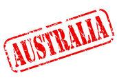 AUSTRALIA red stamp text on white