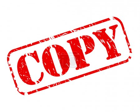 Illustration for Copy red stamp text on white - Royalty Free Image