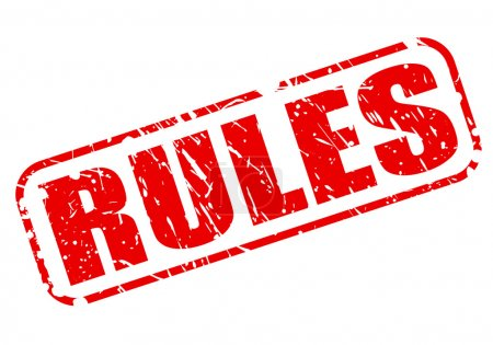 Rules red stamp text
