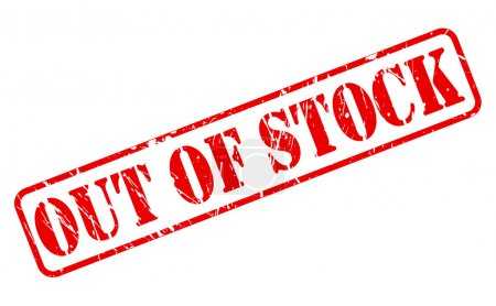 OUT OF STOCK red stamp text