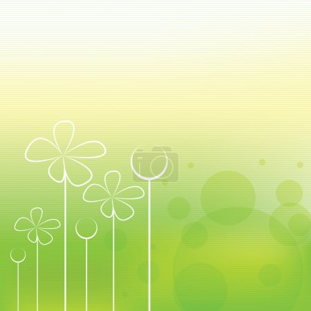Illustration for Beautiful green stripe spring background - Royalty Free Image