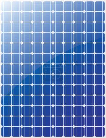 Illustration pour Panneau solaire vecteur rayures bleues - image libre de droit