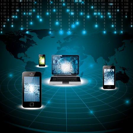 Virtual digital world concept
