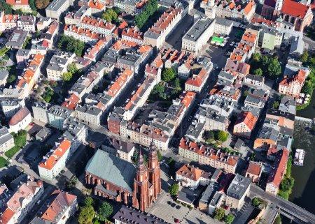 Aerial view of Opole city center , Poland