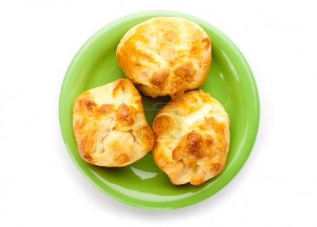 Homemade buns stuffed with cheese
