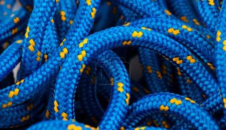 Marine blue rope texture