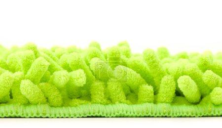 Green microfiber mop strands