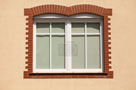 Plastic window over the renovated wall