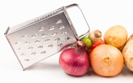 Vegetables and grater