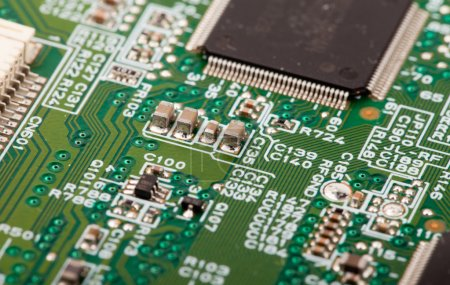 Photo for Close up of circuit board with electronic components - Royalty Free Image