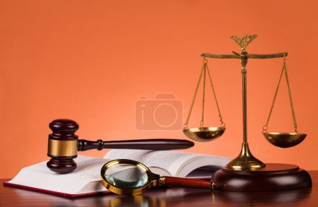 Photo for Judge gavel on table - Royalty Free Image