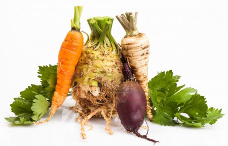 Celeriac and vegetable roots