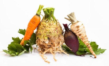 Celeriac and vegetable
