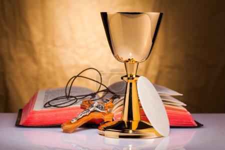 Photo pour Composition de la sainte communion - image libre de droit