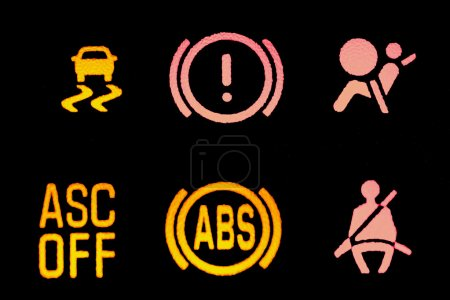 Photo for Icons of a control panel of a car - Royalty Free Image
