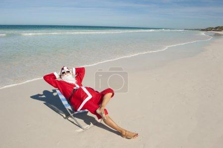 Christmas Holiday Beach Santa Claus I