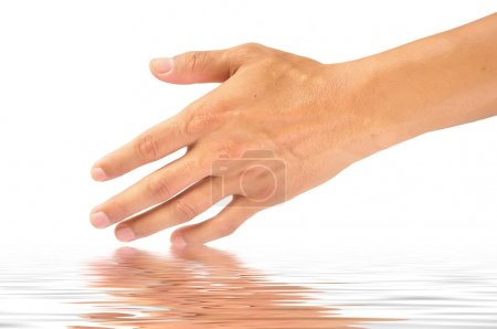 Photo for Empty open man hand in water - Royalty Free Image