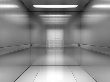Inside of elevator...