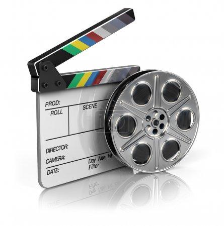 Photo pour Film et clapper board - icône vidéo - image libre de droit
