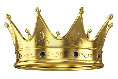 Gold crown isolated on white background...