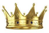 Goldene Krone, die isoliert auf weißem Hintergrund