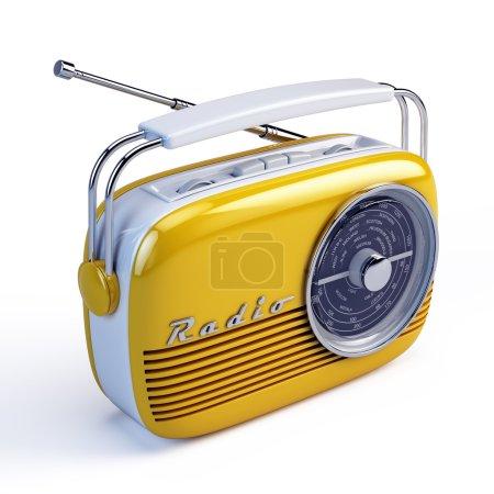 Photo for Retro radio isolated on white - Royalty Free Image