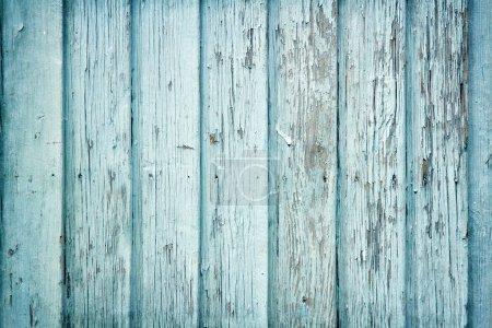 Photo pour Vieux bois peint fond rustique bleu clair, peignant peeling - image libre de droit