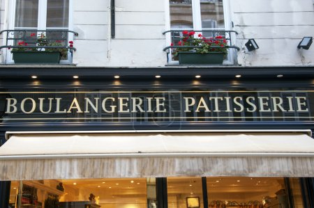 French bakery sign in Paris - France...