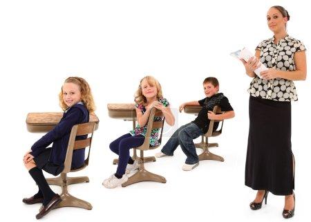 Classroom Students and Teacher
