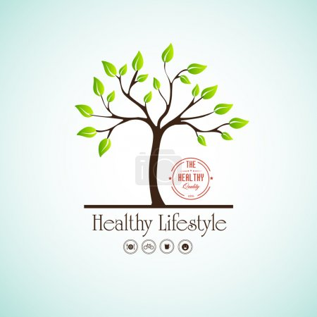 Illustration for Healthy lifestyle - Royalty Free Image