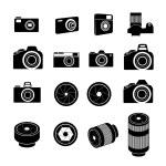 Camera Icons and Camera lens Icons...