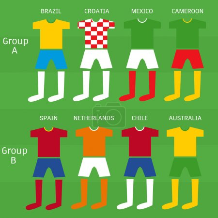 Soccer players uniform, Vector illustration