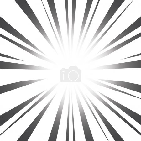 Illustration for Radial Speed Lines graphic effects - Royalty Free Image