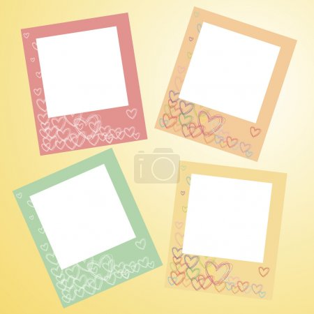 Frames for photo on a wall
