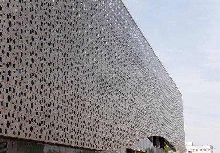 Modern facade of shopping centre...