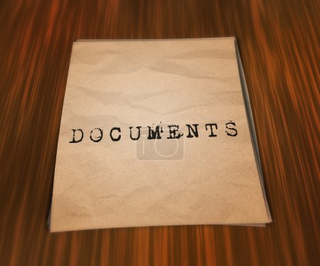 Photo pour Documents sur la table - image libre de droit