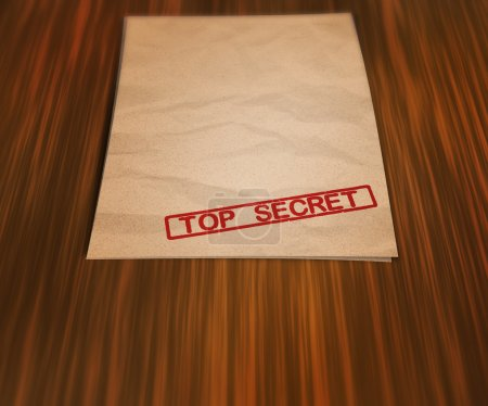 Photo pour Document top secret sur la table - image libre de droit